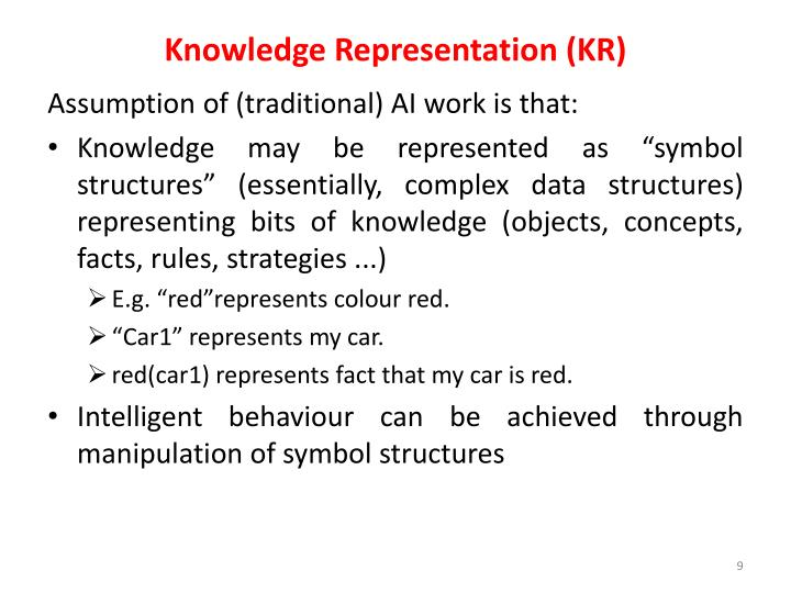 Knowledge Representation (KR)