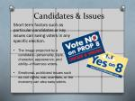 candidates issues