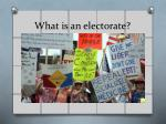 what is an electorate