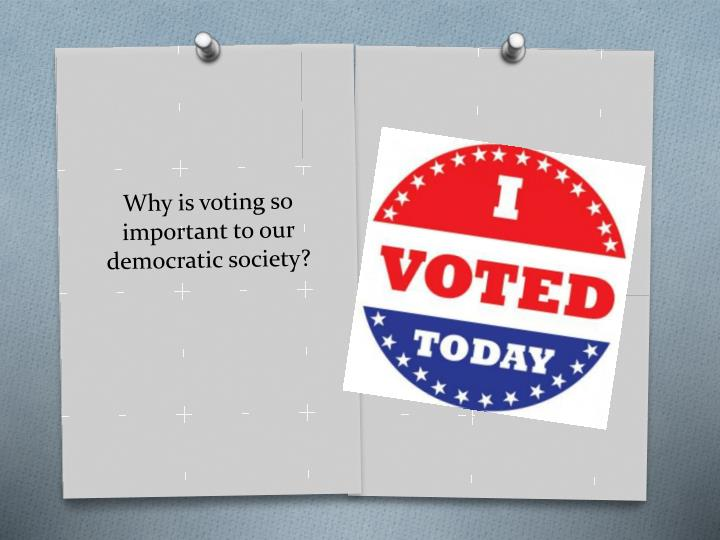 Why is voting so important to our democratic society?