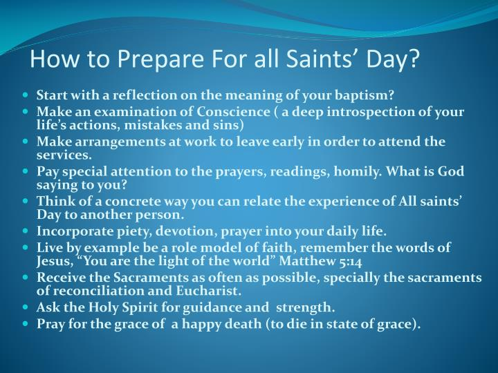 How to Prepare For all Saints' Day?