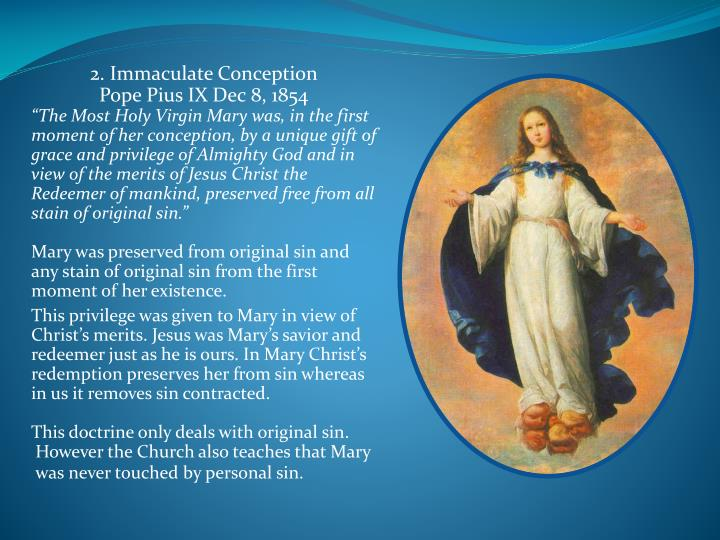 2. Immaculate Conception
