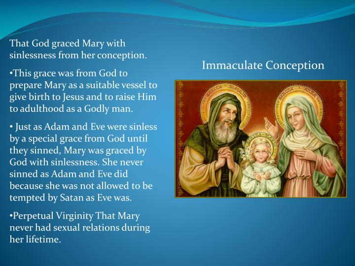 That God graced Mary with