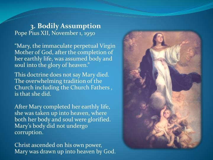 3. Bodily Assumption