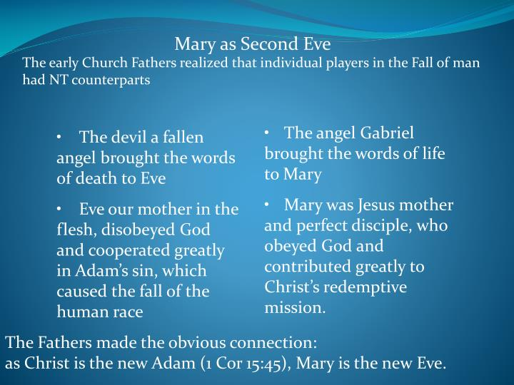 Mary as Second Eve