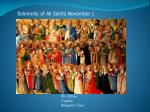 solemnity of all saints november 1