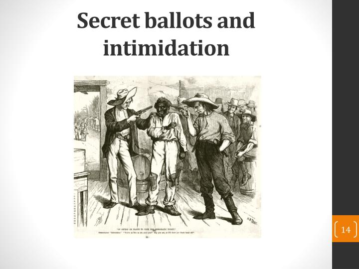 Secret ballots and intimidation