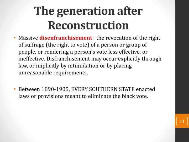 The generation after Reconstruction