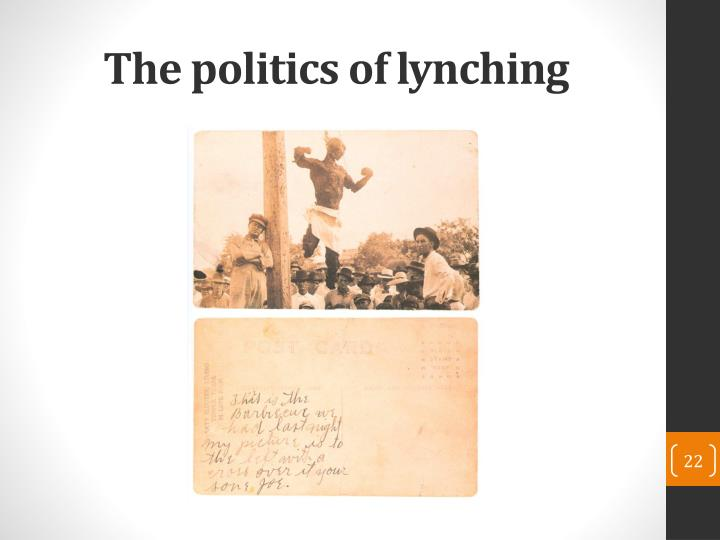 The politics of lynching