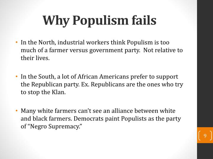 Why Populism fails