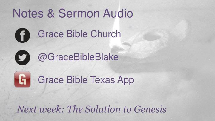 Notes & Sermon Audio