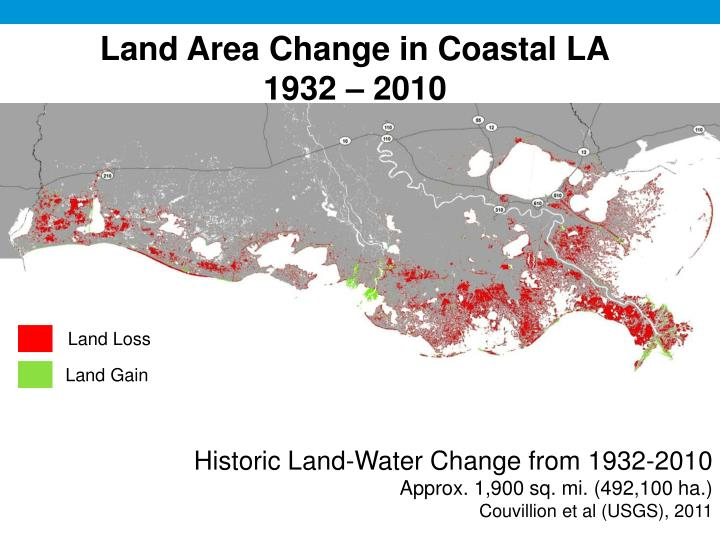 Land Area Change in Coastal LA