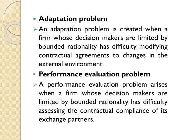 Adaptation problem