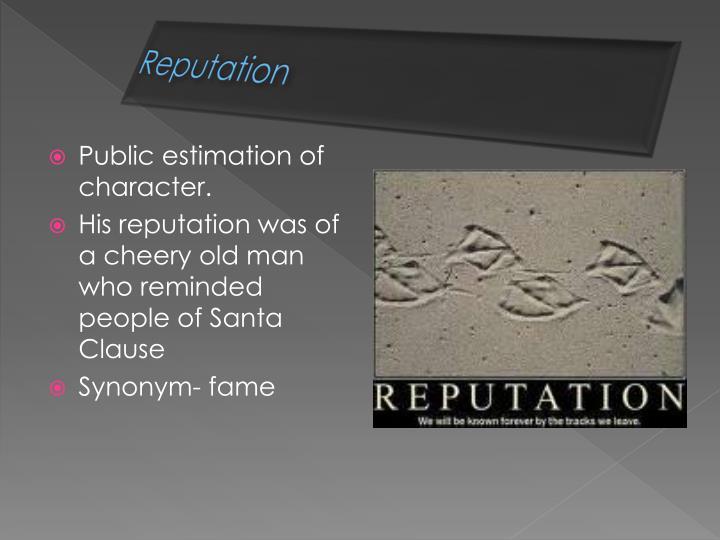 Reputation