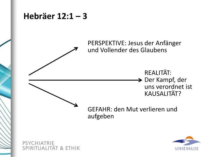 Hebräer 12:1 – 3