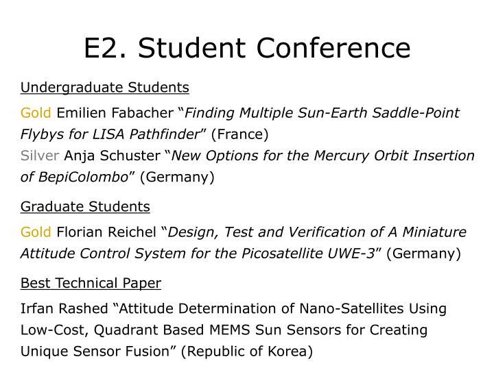E2. Student Conference