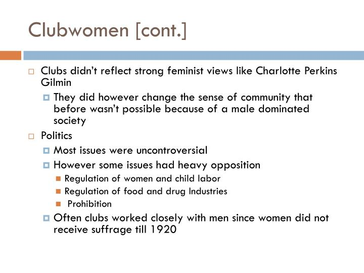 Clubwomen [cont.]