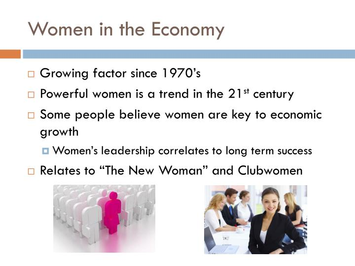 Women in the Economy