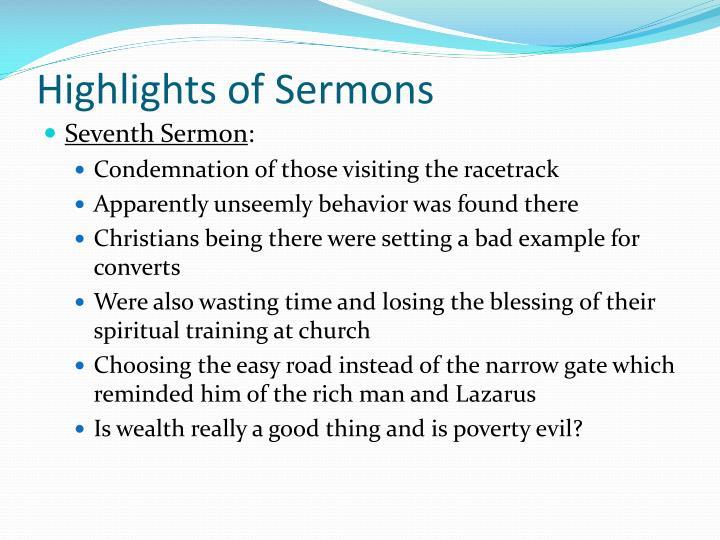 Highlights of Sermons
