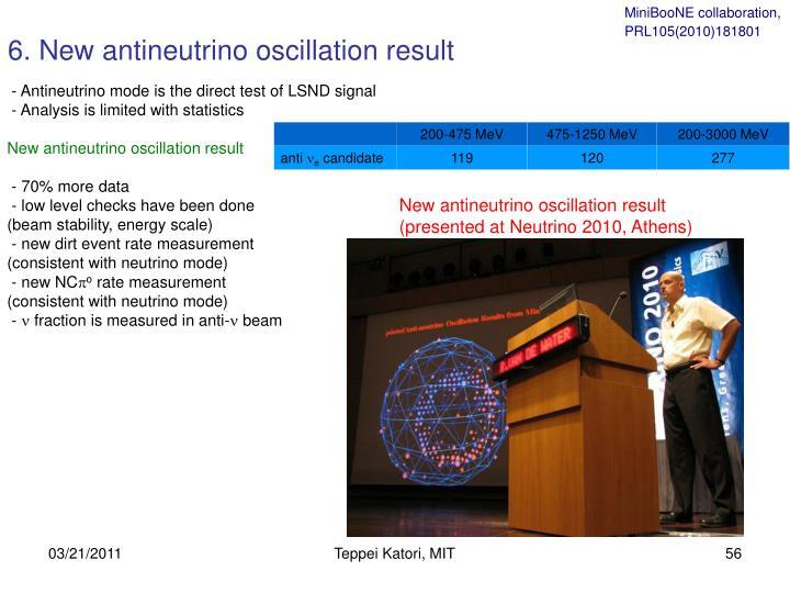 6. New antineutrino oscillation result