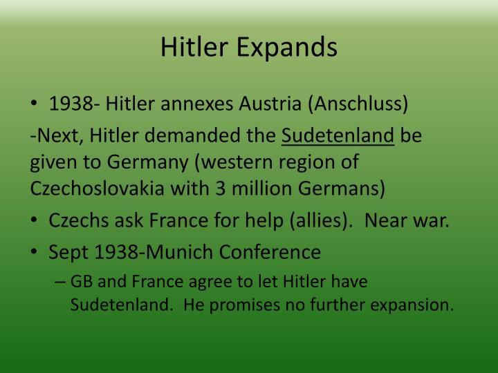 Hitler Expands