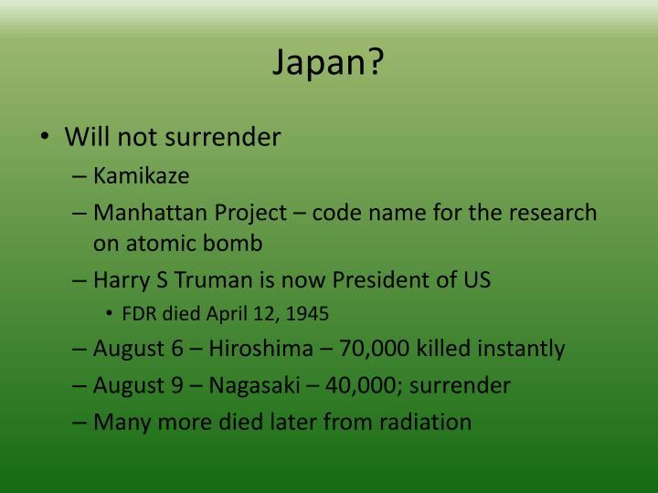 Japan?