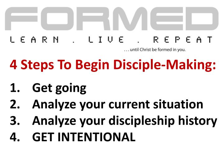 4 Steps To Begin Disciple-Making: