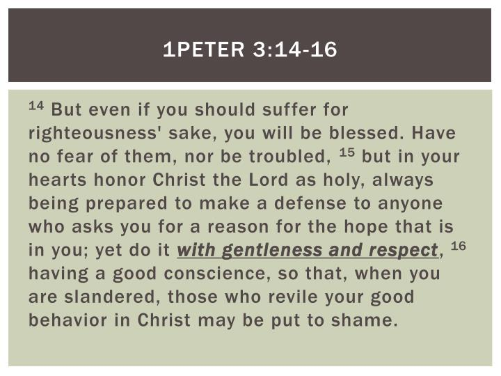 1PETER 3:14-16