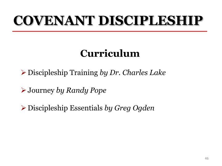 COVENANT DISCIPLESHIP
