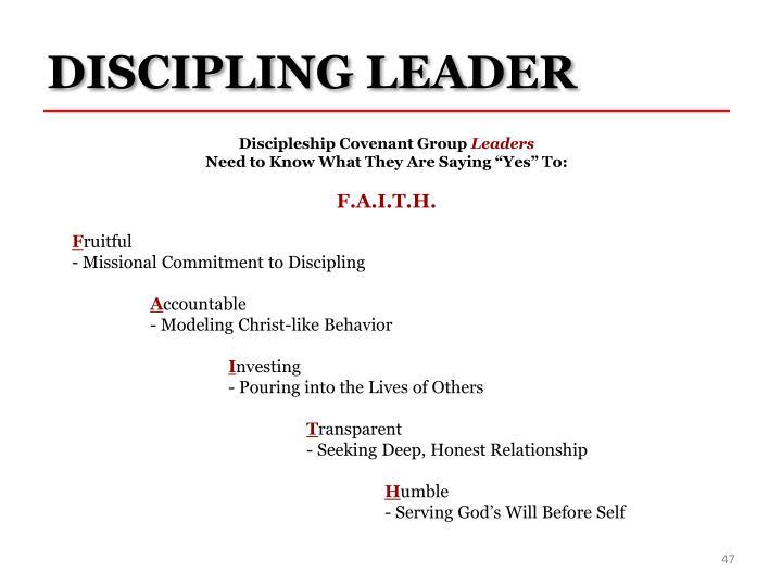 DISCIPLING LEADER