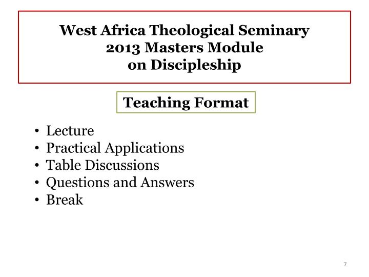 West Africa Theological Seminary