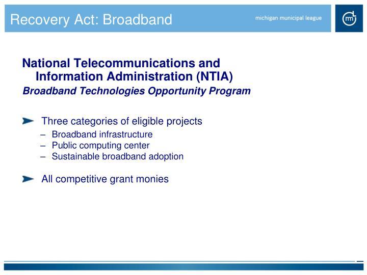 Recovery Act: Broadband