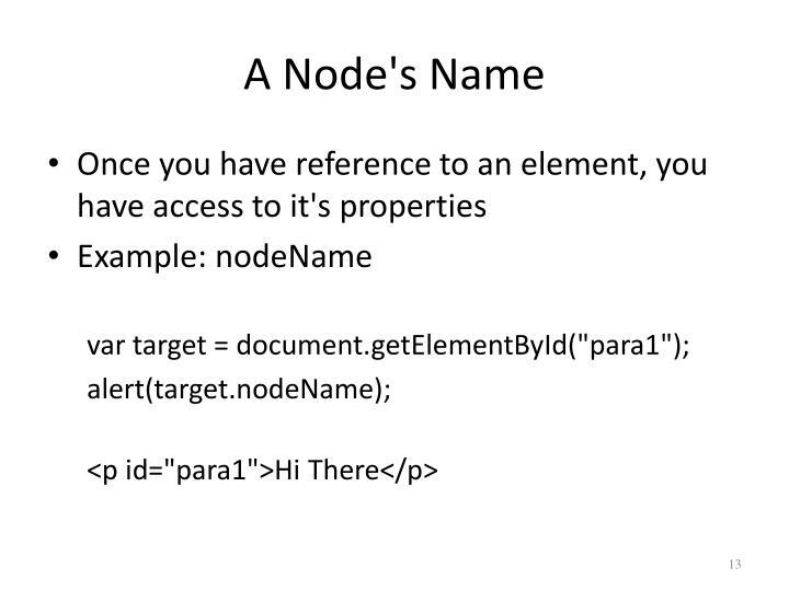 A Node's Name
