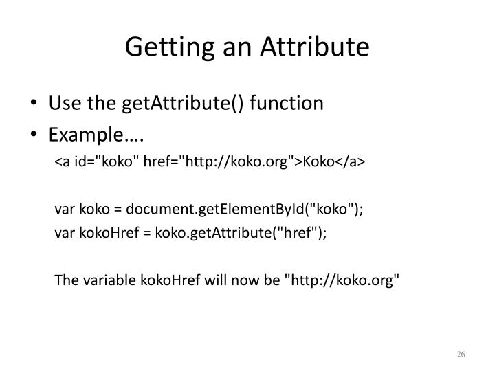 Getting an Attribute
