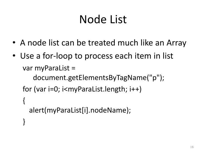 Node List
