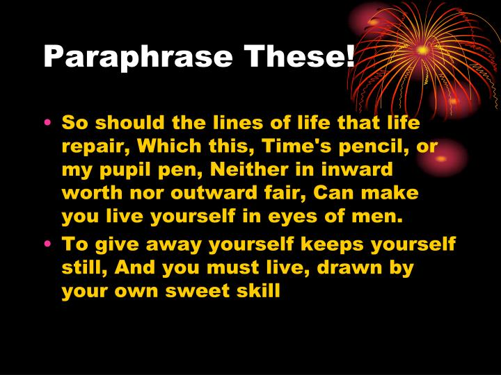 Paraphrase These!