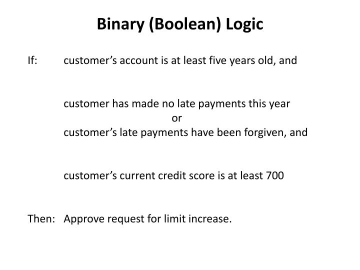 Binary (Boolean) Logic
