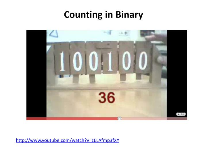 Counting in Binary