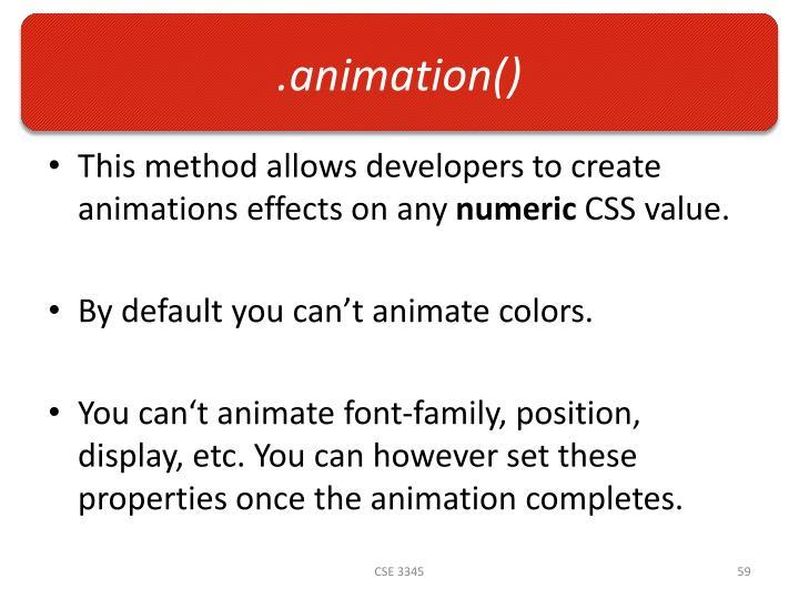 .animation()