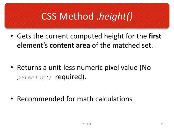 CSS Method .