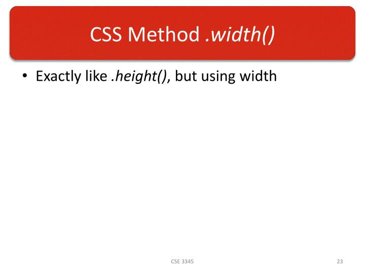 CSS Method
