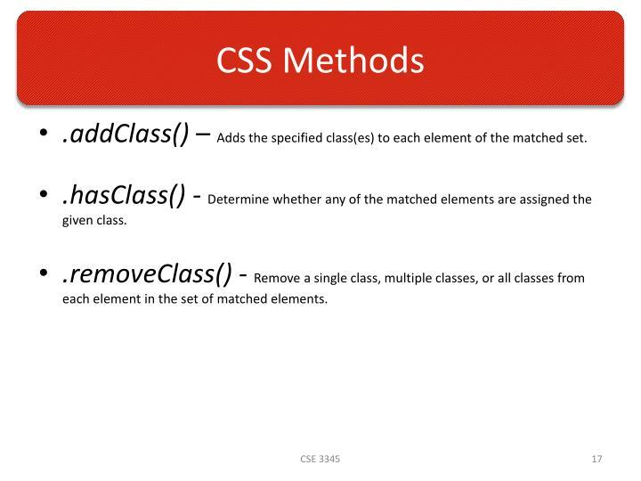 CSS Methods