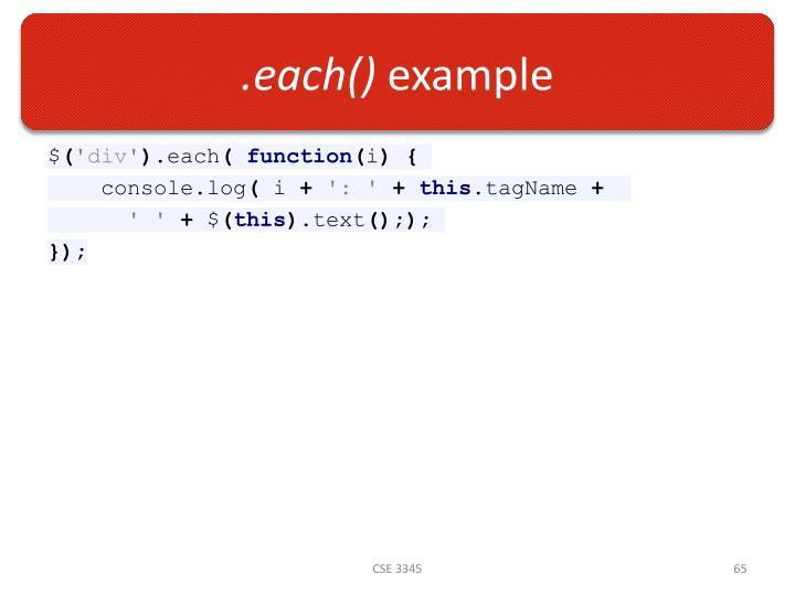 .each()