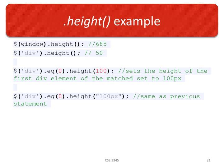 .height()