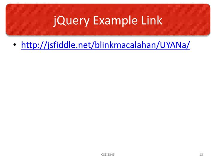 jQuery Example Link