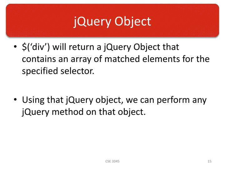 jQuery Object