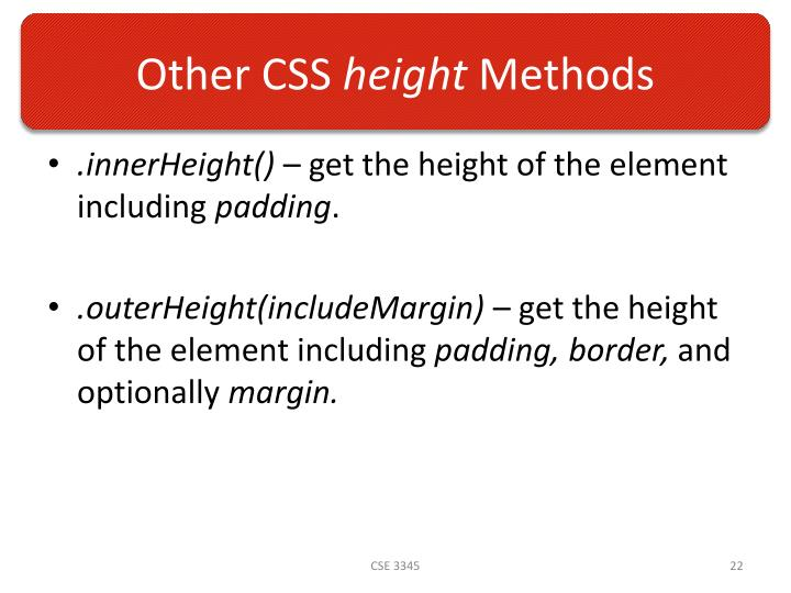 Other CSS