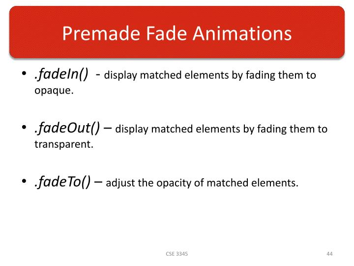 Premade Fade Animations