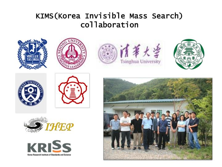 KIMS(Korea Invisible Mass Search)