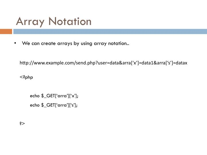 Array Notation